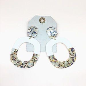 NWT Anthropologie Resin Drop Earrings